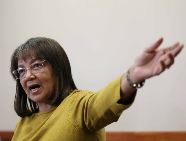 Patricia de Lille during her press conference at the Cullinan Hotel in Cape Town after she was ousted by the Democratic Alliance on May 8 2018.