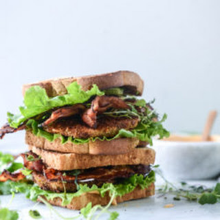 Bacon Fried Green Tomato BLTs with Special Sauce