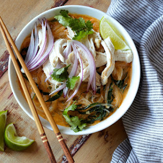 Rotisserie Chicken Coconut Curry Soup.