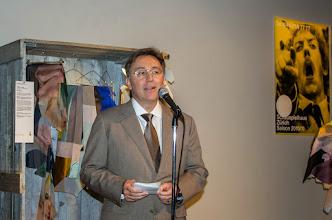 Photo: The Ambassador of Switzerland to Japan, Urs Bucher giving a speech.