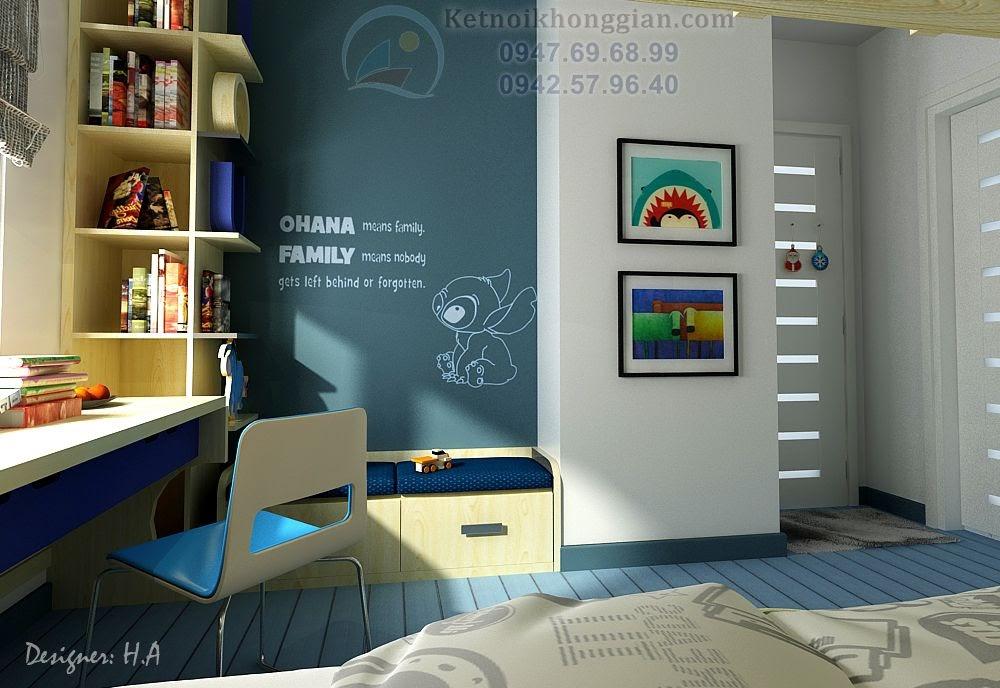 thiết kế nội thất phòng ngủ bé trai cá tính