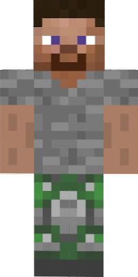 Real Mossy Cobble steve from 2013 the skin created by anonymous men