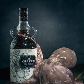 Kraken by Eric Bureau - Food & Drink Alcohol & Drinks ( shipreck, kraken, octopus, bottle, rum, bouteille )