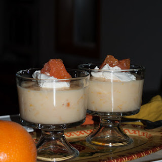 Low Calorie Orange Creamsicle Pudding with Cara Cara Oranges.