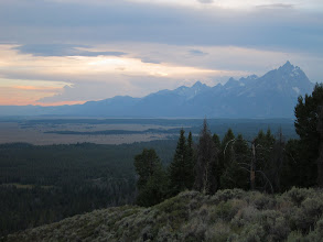 Photo: Sunset over the Tetons