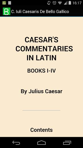 C. Caesaris De Bello Gallico