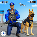 Police Dog Airport Crime Chase : Dog Games icon