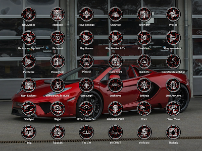 Wheels Red - Icon Pack screenshot 16