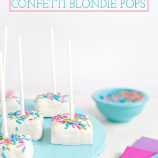 White Chocolate Confetti Blondie Pops Recipe
