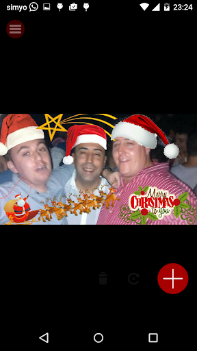 merry christmas photo stickers screenshot 2
