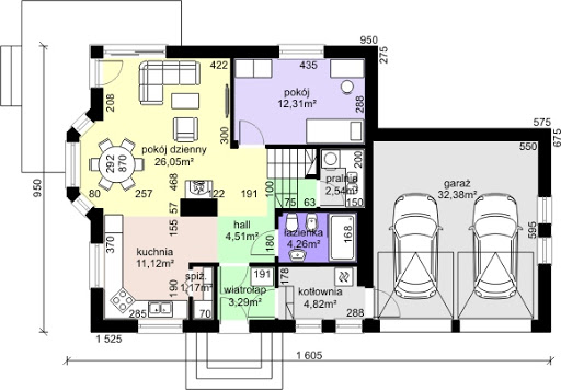 Dom przy Cyprysowej 37 - Rzut parteru