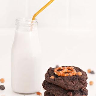 Double Chocolate Caramel Pretzel Cookies