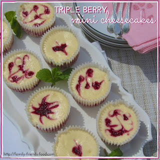 Triple Berry Mini Cheesecakes