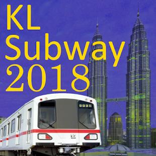 Kuala Lumpur KL MRT Train Map 2018 - náhled