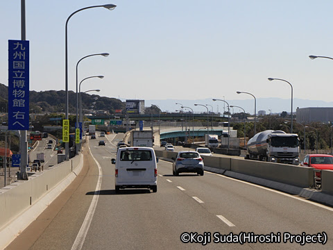 西鉄「フェニックス号」 6016 福岡都市高速道路走行中