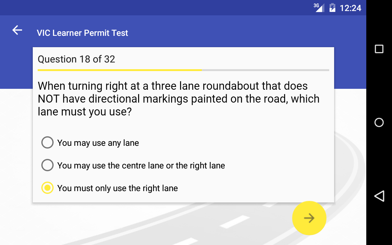 VIC Learner Permit Test- screenshot