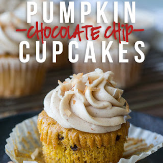 Pumpkin Chip CupCakes with Spiced Cream Cheese Frosting Recipe