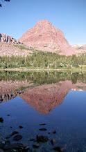 Photo: Flat Top Mountain reflecting in Island Lake