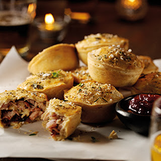 Turkey And Cranberry Pies.