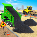 Highway Road Construction: Grand Excavator Games icon