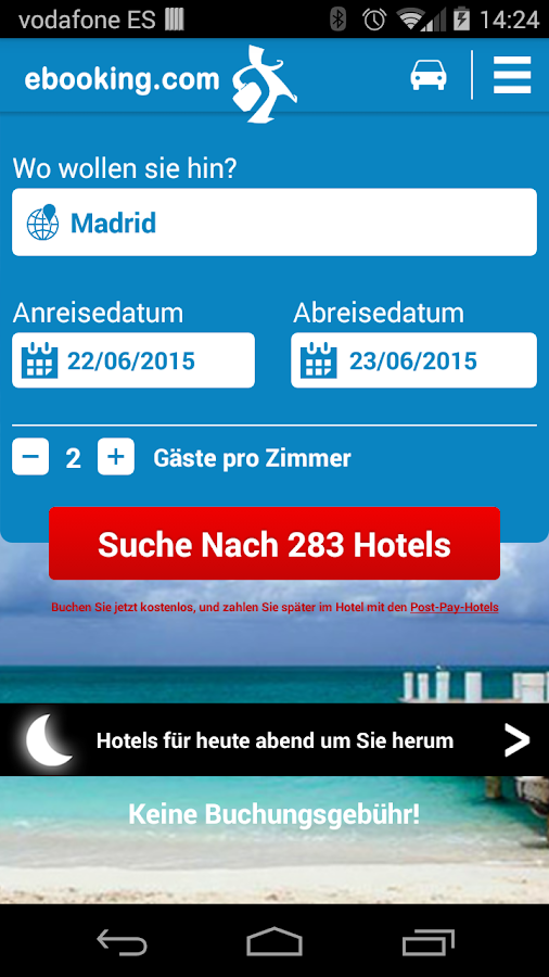 ebooking.com: hotels online – Screenshot