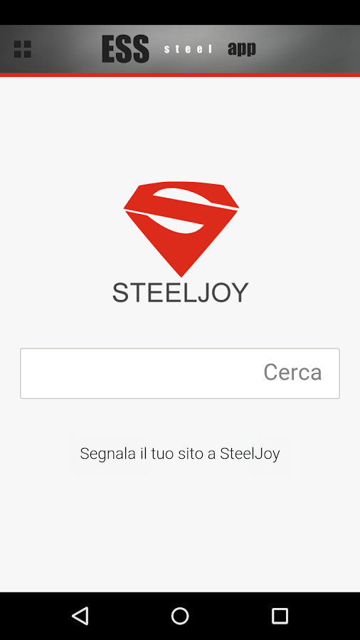 Ess steel App- screenshot