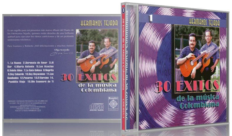 Hermanos Tejada - 30 Éxitos De La Música Colombiana 1 (2000) [MP3 @320 Kbps]