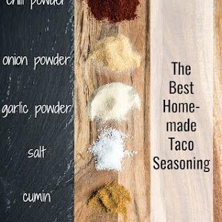 The Best Homemade Taco Seasoning.