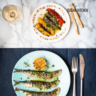 Chargrilled Sardines With Lemon And Olive Oil.