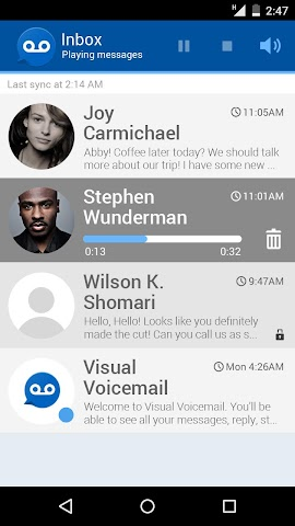 how to listen to voicemail on android