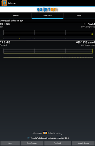 android Psiphon Pro Screenshot 6