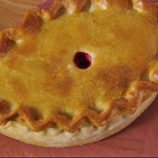 Hand-raised Boxing Day pie.