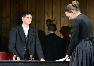 Photo: Wien/ Theater in der Josefstadt: JÄGERSTÄTTER von Felix Mitterer. Inszenierung: Stephanie Mohr, Premiere 20.6.2013. Stefan Lasko, Gerti Drassl. Foto: Barbara Zeininger