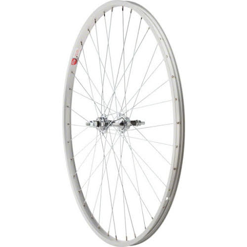 Sta-Tru Rear Wheel 27 inch Silver 6/7 Speed Bolt-on Hub, Alloy Rim