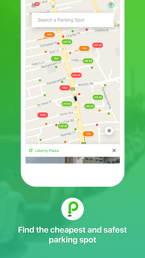 ParkMeApp (Sri Lanka)- screenshot