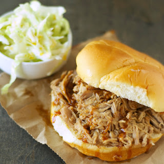Slow Cooker Hawaiian Pulled Pork Sandwiches with Mandarin Orange Slaw