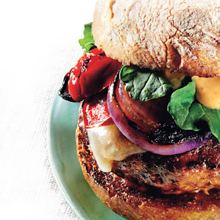 Grilled Turkey Burgers with Cheddar and Smoky Aioli Recipe