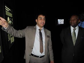 Photo: Pr. Aberrazak EL ALBANI et M.Pacôme MOUBELET BOUBEYA ministre de l'Enseignement Supérieur et de la Recherche du Gabon.