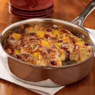 Cranberry-Orange Skillet Bread Pudding