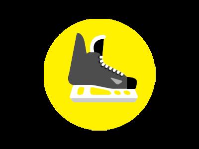 Hockey Skate Image Logo