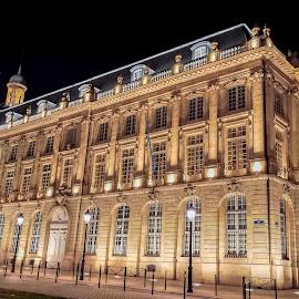 Bordeaux, Place de la bourse fontaine by Sivakumar Inc - Buildings & Architecture Public & Historical ( bordeaux     france     buildings     night photography )