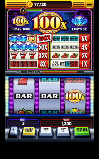 Triple 100x Diamonds - Slot Machine Free apktram screenshots 3