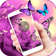 Purple butterfly Spring Theme icon