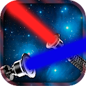Lightsaber of galaxies icon