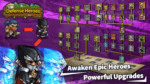 Télécharger Gratuit Defense Heroes: Kingdom Wars Offline Tower Defense APK MOD (Astuce) screenshots 3