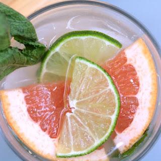 Fresh Citrus + Mint Rum Cocktail.