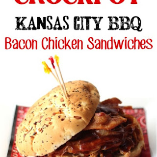 Crockpot Kansas City BBQ Bacon Chicken Sandwich Recipe!