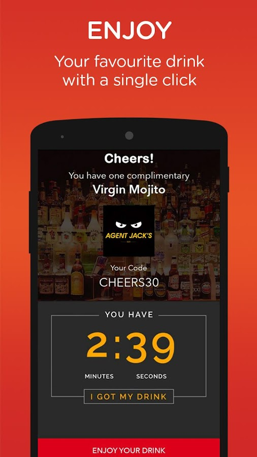 Cheers - Pocket Bar. Your first drink is on us- screenshot