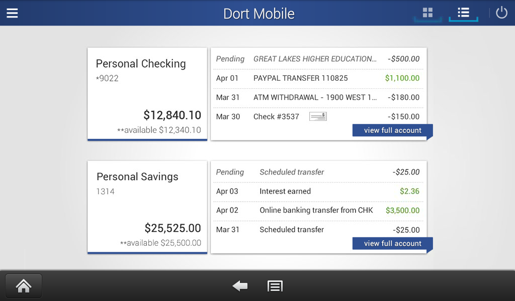 Dort Federal Mobile Banking- screenshot