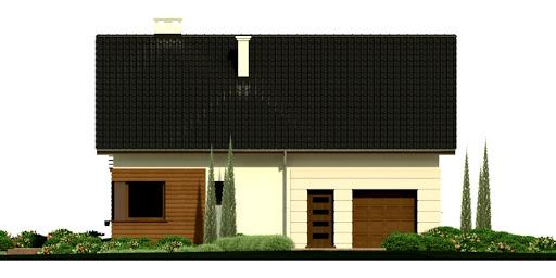 Dom przy Głogowej 2 - Elewacja przednia